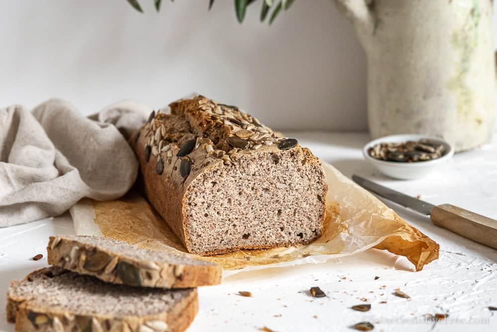 fette di pane senza glutine grano saraceno e farina di riso