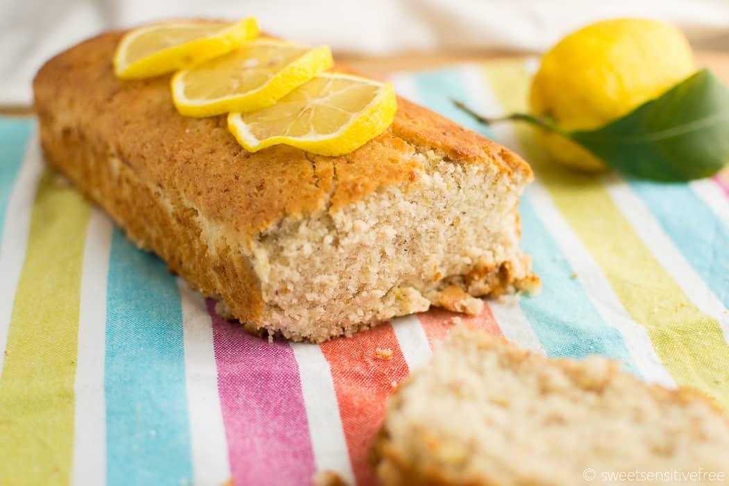 Gluten free vegan lemon loaf cake