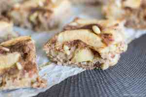 Apple raisins cinnamon squares gluten dairy free