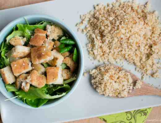 homemade gluten free bread crumbs croutons