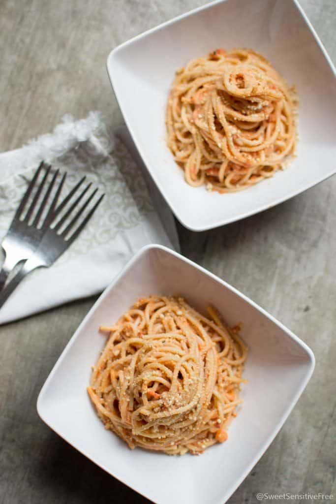 Dairy free Creamy Spaghetti Sauce