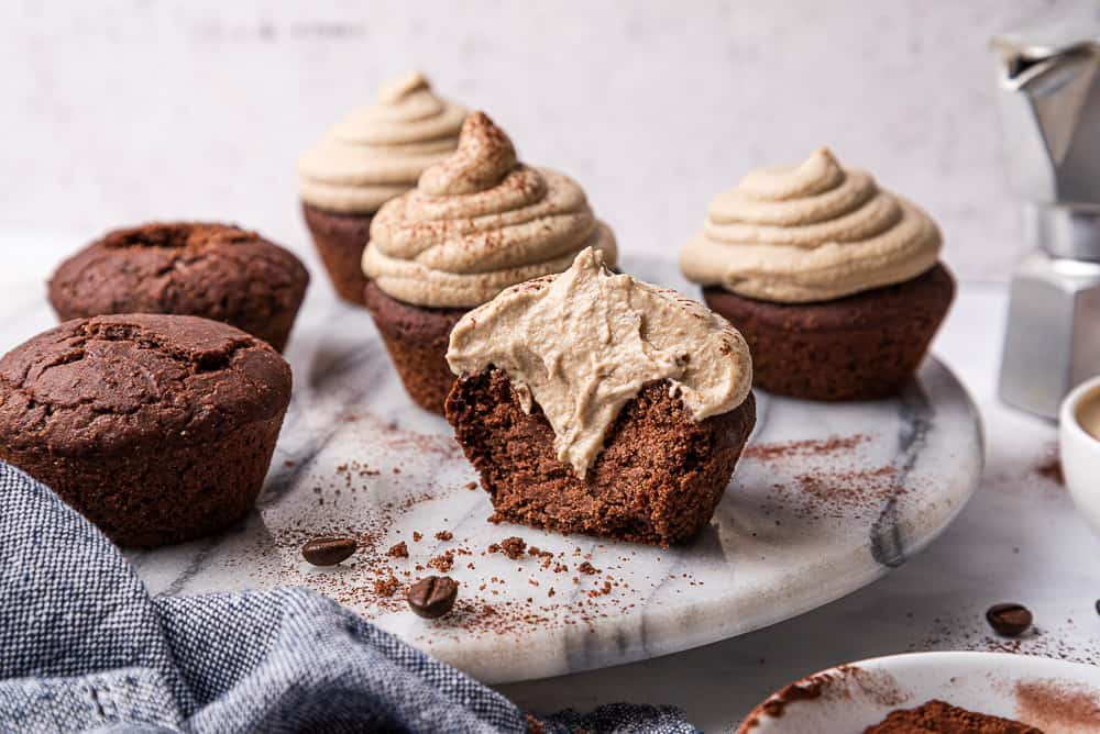 gluten free chocolate cupcakes with frosting