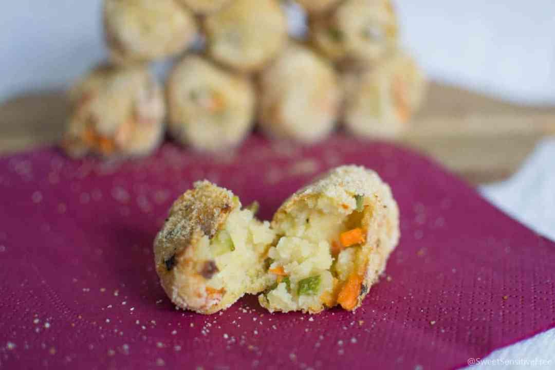 ricetta crocchette patate verdure forno senza glutine lattosio uova semplice veloce
