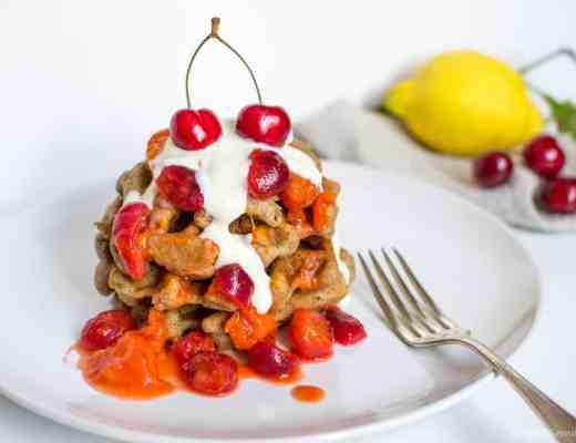 ricetta waffle pancake limone marmellata pesche albicocche senza glutine uova lattosio latticini burro