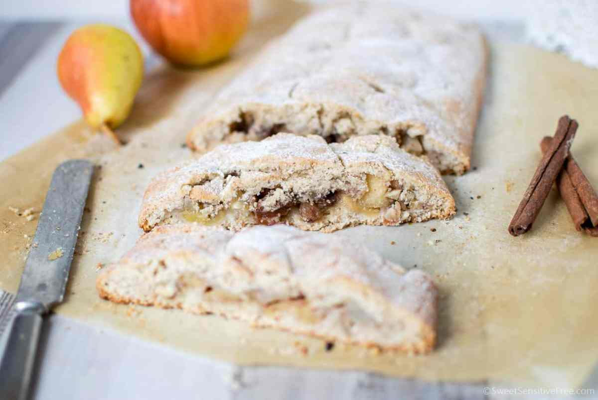 Apple Strudel with Homemade Shortcrust Pastry |  Gluten free * Vegan