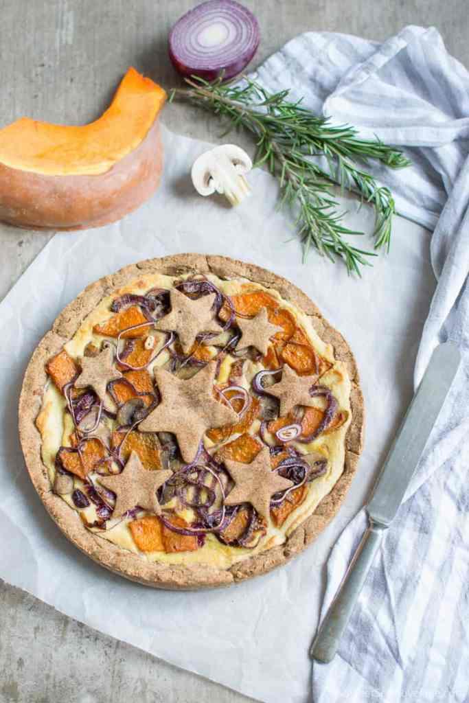 Gluten free vegan rustic vegetable pie