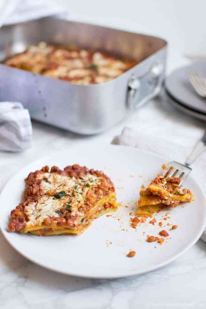 Recipe for homemade gluten free vegan italian lasagna fresh pasta