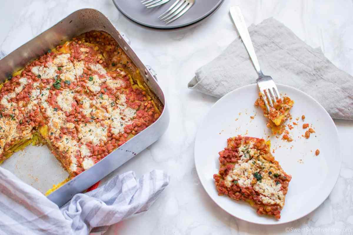 Homemade Gluten free Vegan Lasagna