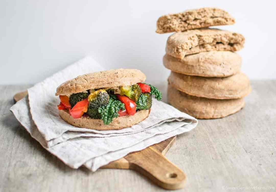 Panini senza glutine fatti in casa con farine naturali di miglio e grano saraceno lievitazione breve