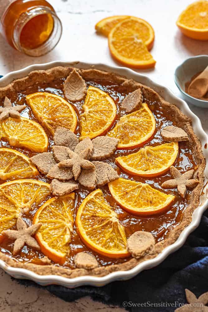 Crostata alle arance senza glutine grano saraceno farine naturali