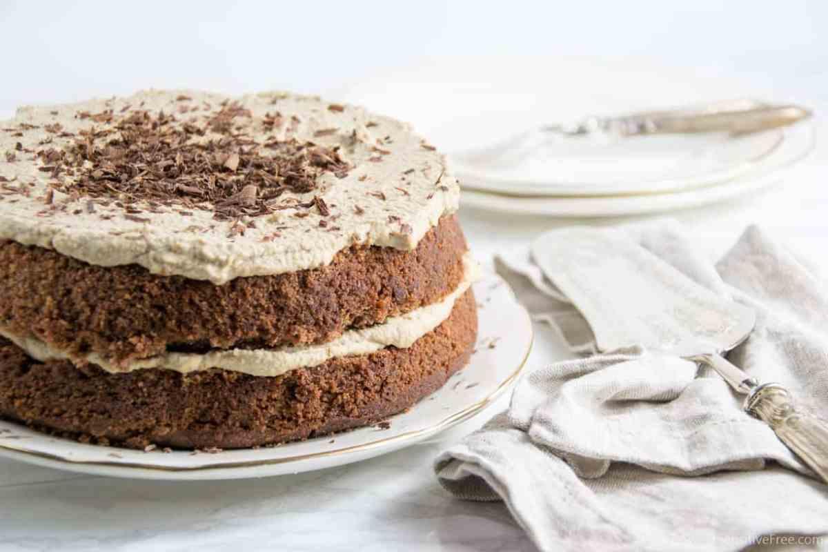 Torta al Cioccolato con Crema al Caffé | Senza glutine * Vegan