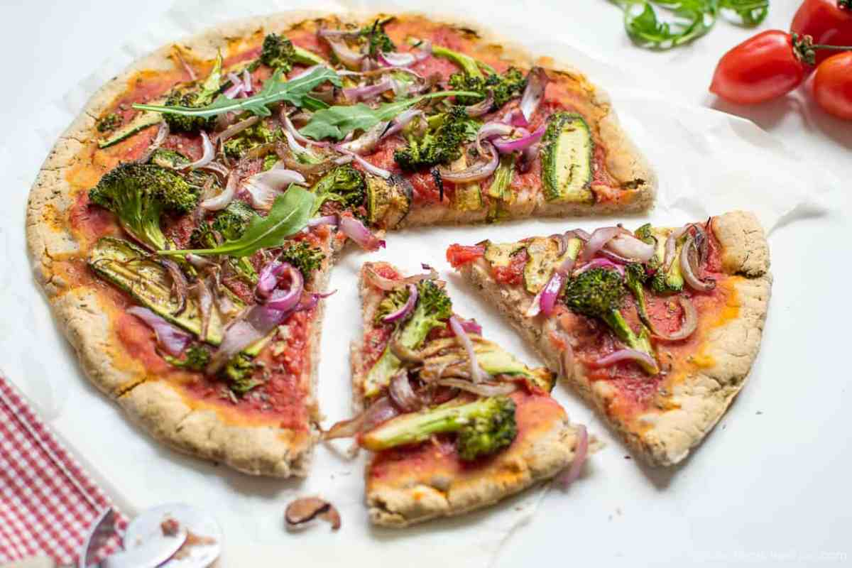 Easy Gluten free + Yeast free Pizza Crust