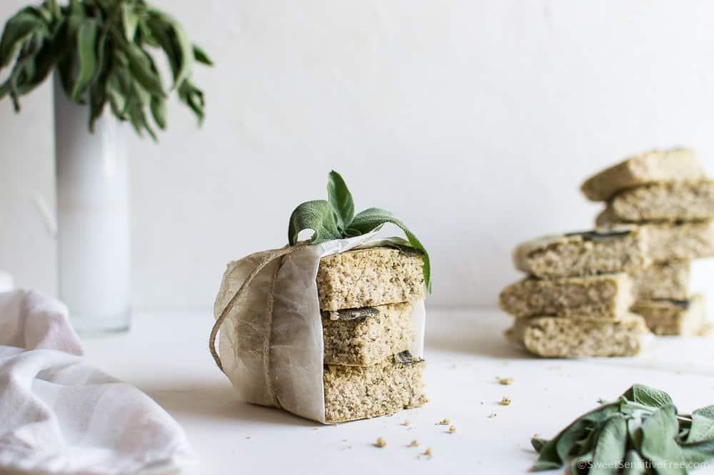 Gluten free Yeast free focaccia with Sage