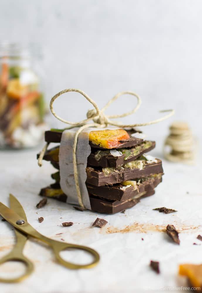 gluten free vegan chocolate bark for christmas