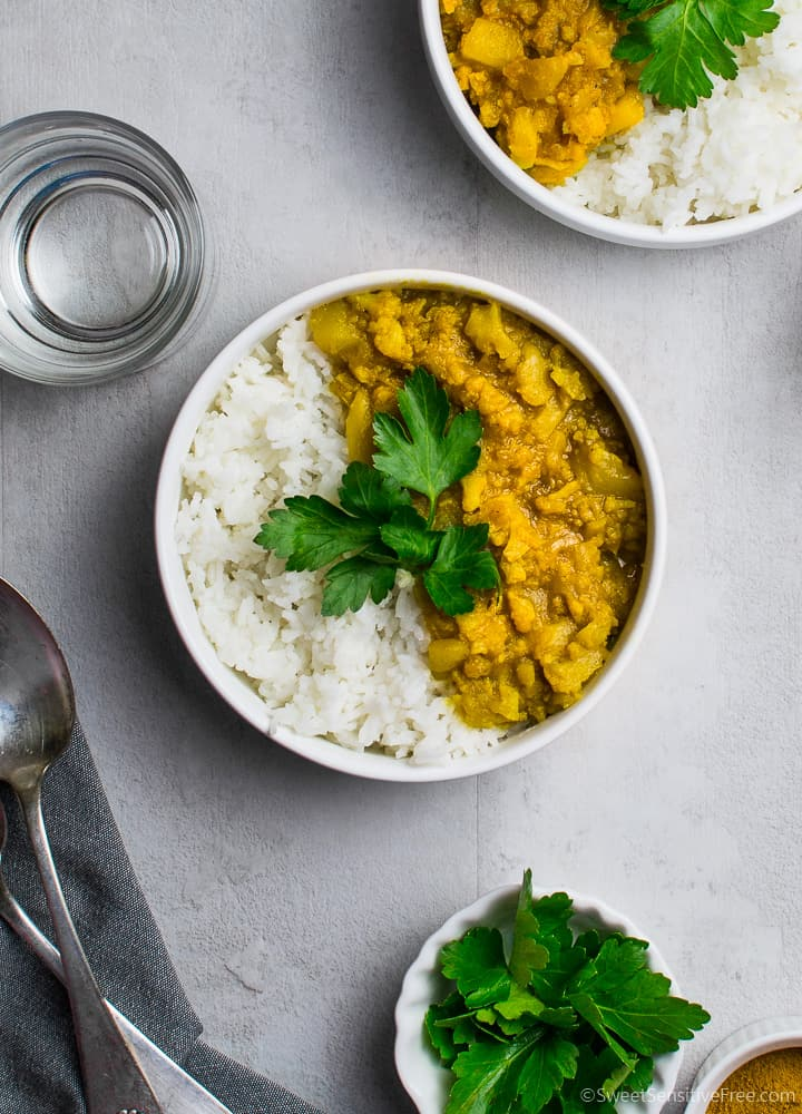 cauliflower potatoes vegan curry without coconut