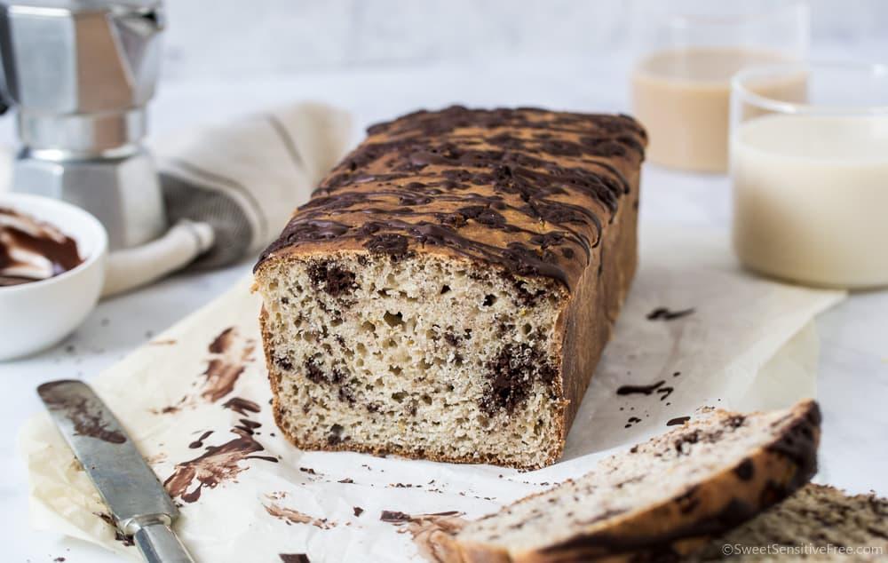 pane al cioccolato senza glutine con farine naturali