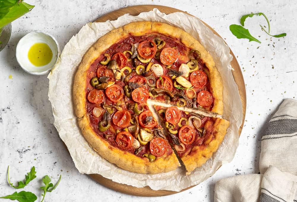 impasto per pizza senza glutine a lunga lievitazione con farine naturali