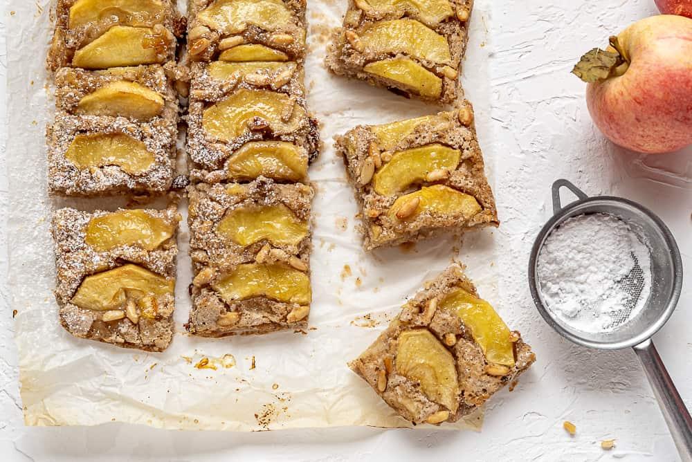 Gluten free vegan apple cake squares