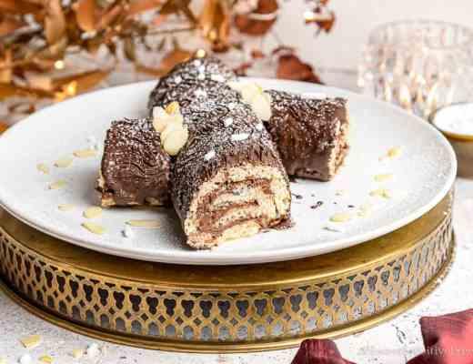 gluten free vegan christmas yule log cake