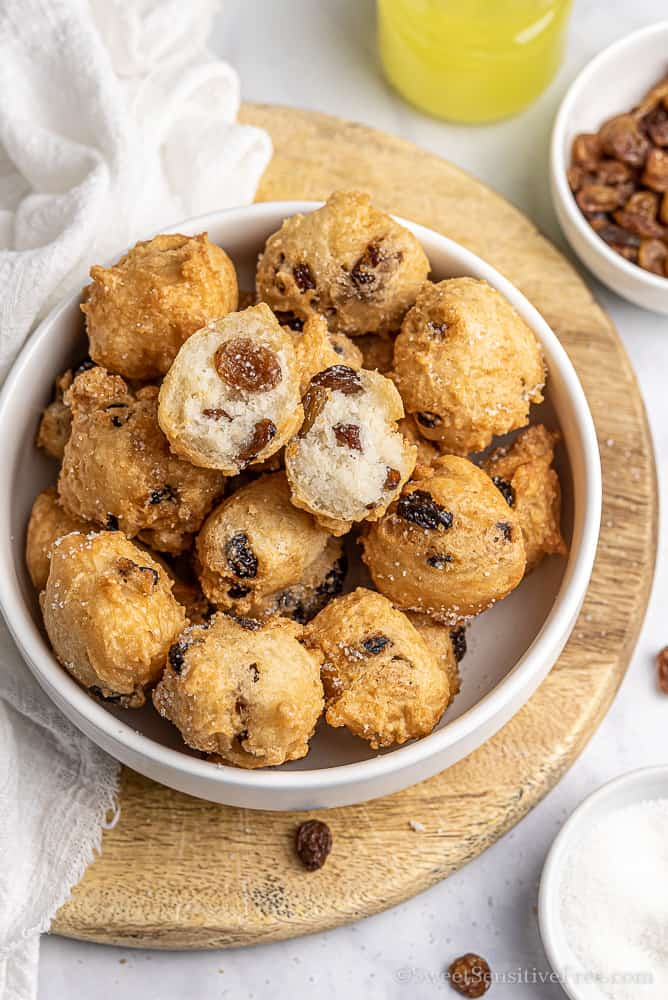 gluten free soft raisin fritters eggless dairy free