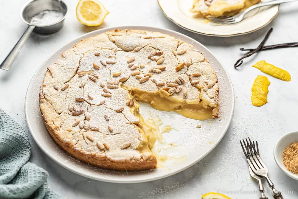 gluten free tart crust with eggless dairy free pastry cream