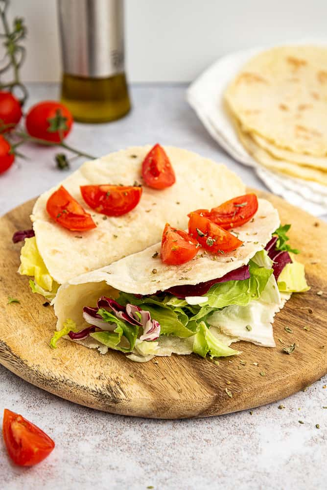 Soft gluten free tortillas that can be folded