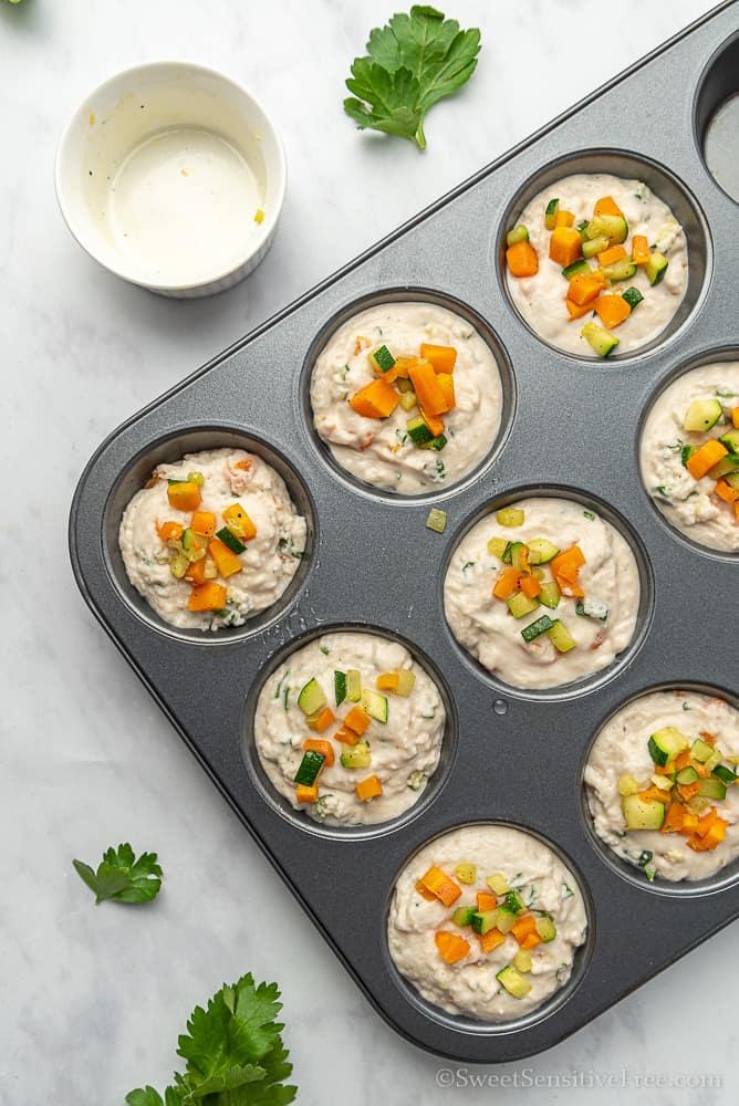 muffin senza glutine alle verdure