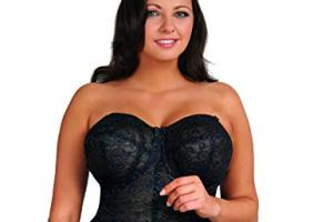 Goddess Women's Lace Bustier Brassiere, best full figure strapless bra