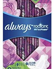 Always Radiant women menstrual pads, best sanitary towels for heavy flow absorbency