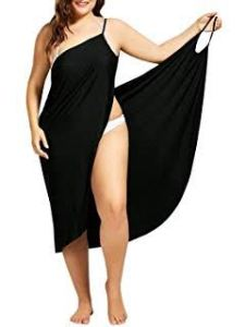 One of the best plus size swimsuit coverups by Sunlyan, a plus size spaghetti strap