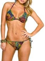 Kiniki Amalfi Tan Thru Bikini Top Swimsuit