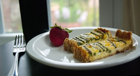 An Asparagus and Parmesan Tart