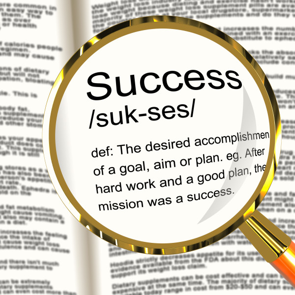 Success Dictionary meaning in Magnifying Glass