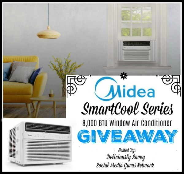 You can #WIN a Midea SmartCool Series 8,000 BTU Window Air Conditioner when this #BTS Gift Guide #Giveaway ends 8/31. #Contest #BackToSchool