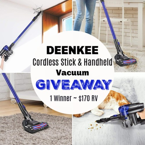 One lucky winner will receive a DEENKEE Cordless Stick & Handheld Vacuum Cleaner worth $170 when this BTS Gift Guide Giveaway ends 8/19. #Contest #Winit #BTS #BackToSchool #GiftGuide
