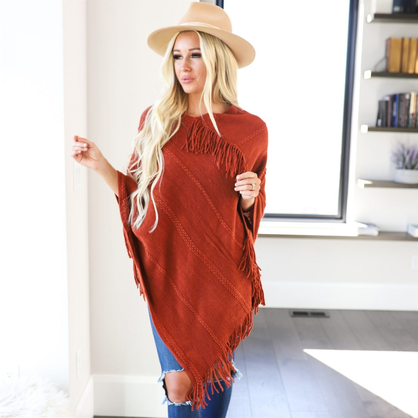 Was $49.99 - Now $26.99 - Soft Fringe Poncho | Free Shipping (10/12 to 10/14)