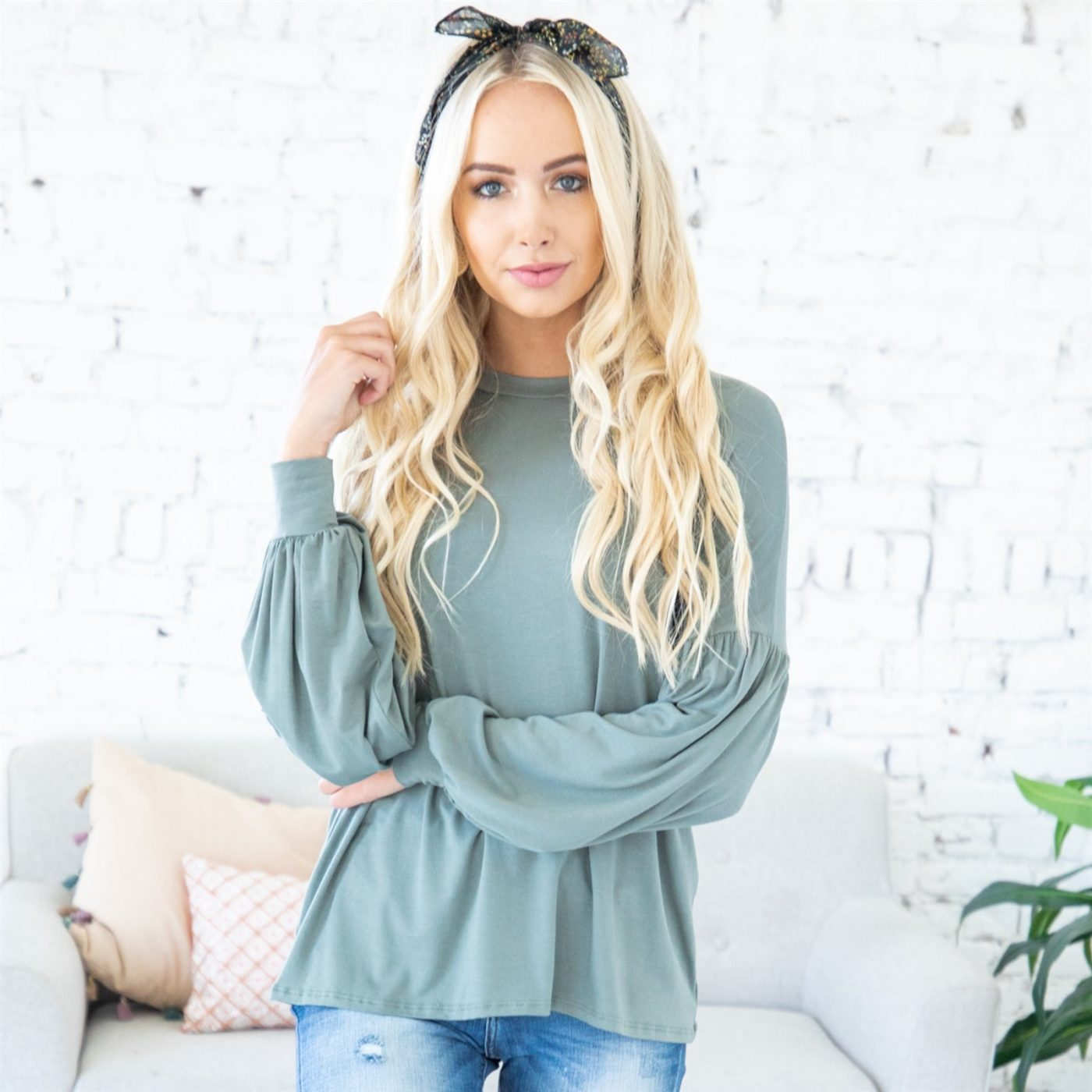 Was $49.99 - Now $23.99 - Valeria Bubble Sleeve Tunic   Free Shipping (10/16 to 10/18)