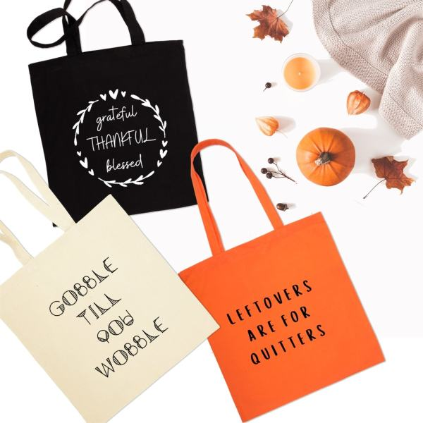 Thanksgiving Totes | Free Shipping