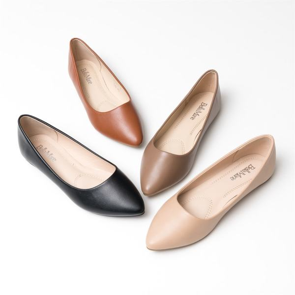 Smooth Pointy Ballet Flats   Free Shipping