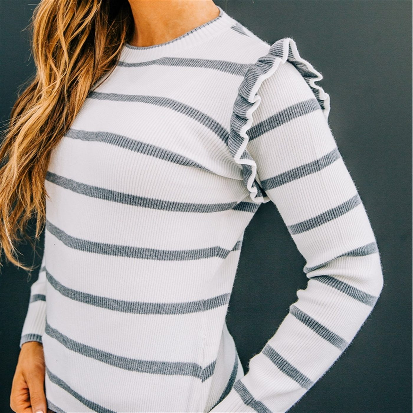 Was $39.99 - Now $27.99 - Mae Stripe Sweater   Free Shipping (10/12 to 10/14)