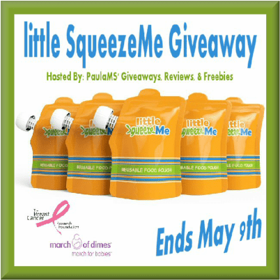 little SqueezeMe Giveaway ends May 9th