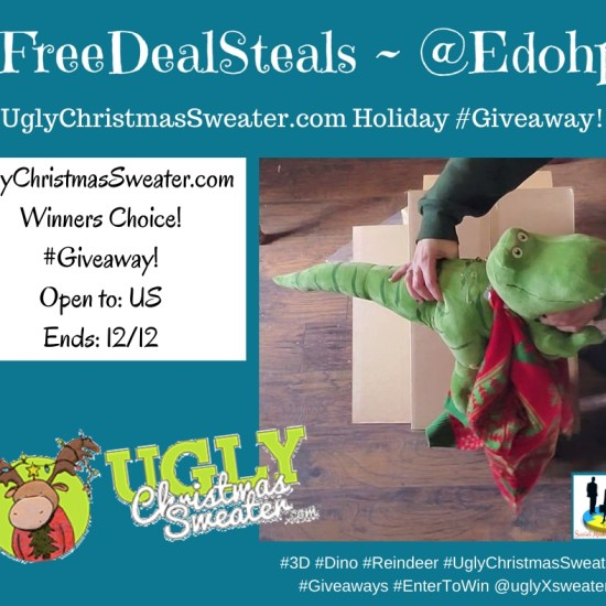 🎄 Enter and you could #WIN your choice of Ugly Christmas Sweater valued up to $50 when this #SMGN Holiday Gift 🎁 Guide #Giveaway ends 12/12. #HGG19 @SMGurusNetwork @FreeDealSteals @uglyXsweater