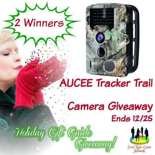 HOLIDAY GIFT GUIDE GIVEAWAY - AUCEE Tracker Trail Camera Giveaway