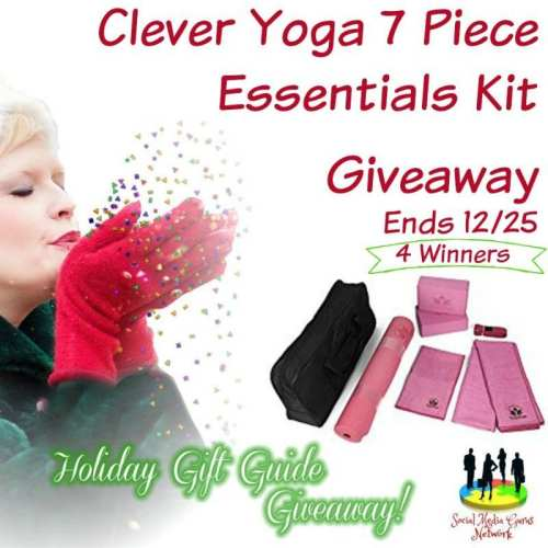 HOLIDAY GIFT GUIDE GIVEAWAY - 4 WIN Clever Yoga 7 Piece Essentials Kit