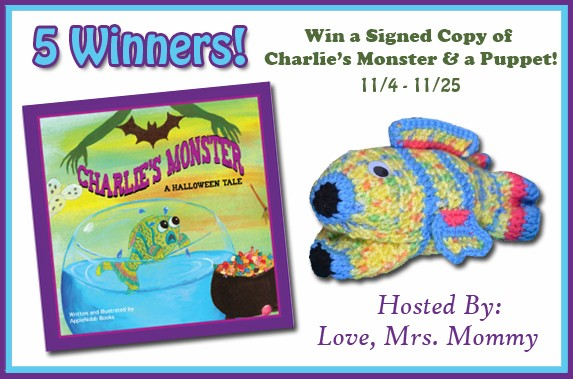 5 WIN a Signed Copy of Charlie's Monster & A Puppet! Ends 11/25/17