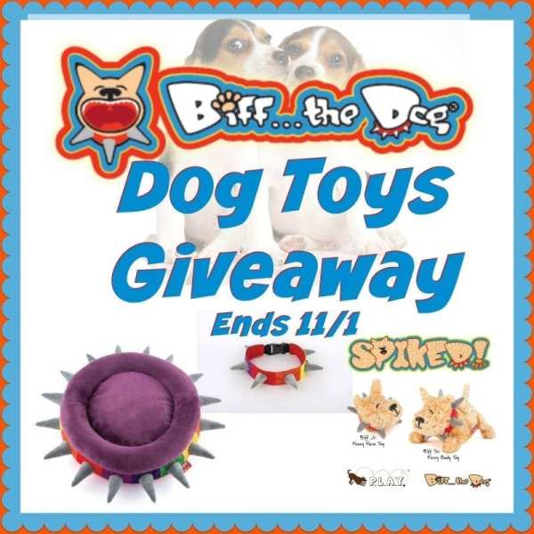 One lucky winner will receive a Biff the Dog  - Dog Toys Prize Package when this Fall Giveaway Ends 11/1. #SMGN #GiftGuide #Win #Winit #Winning #Sweeps #Sweepstake #Sweepstakes #Contest #ContestAlert #Competition #Giveaway #GiveawayAlert #Prize #Free #Gift