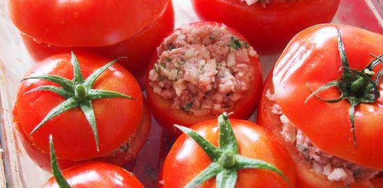 トマトファルシのレシピ recette tomates farcies
