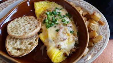 My lobster omelette- so good!