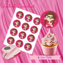 HIPPIE CHIC CUPCAKE TOPPERS 2- IMAGEN PROMO