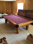 This pool table was used for many games of pool & ping pong